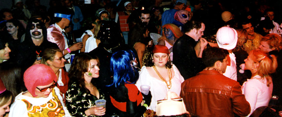 Halloween Crowd shot